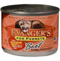 Влажный корм Evangers Beef Can Ferret Food с говядиной, 170 гр