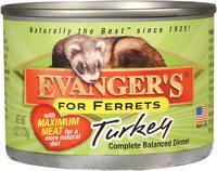 Влажный корм Evangers Turkey Can Ferret Food с индейкой, 170 гр